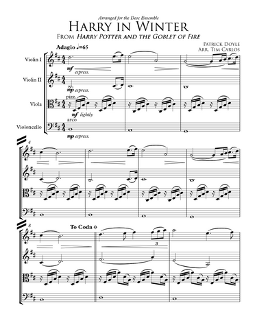 Harry in Winter for String Quartet