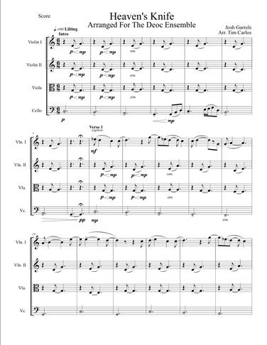 Heaven's Knife for String Quartet