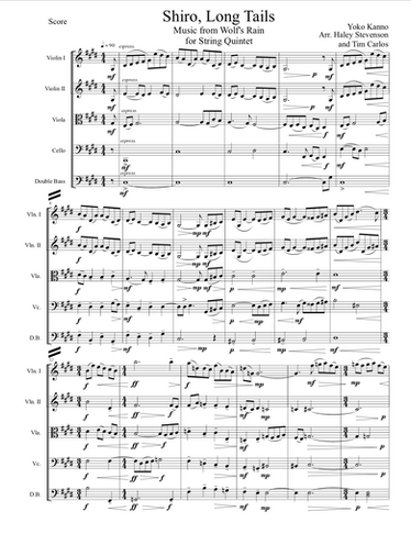 Shiro, Long Tails for String Quintet