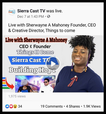 A Sierra Cast TV Interview with Founder & Designer Sherwayne Mahoney