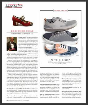 "Footwear Plus Magazine - ""Designer Chat"" - March 2017"