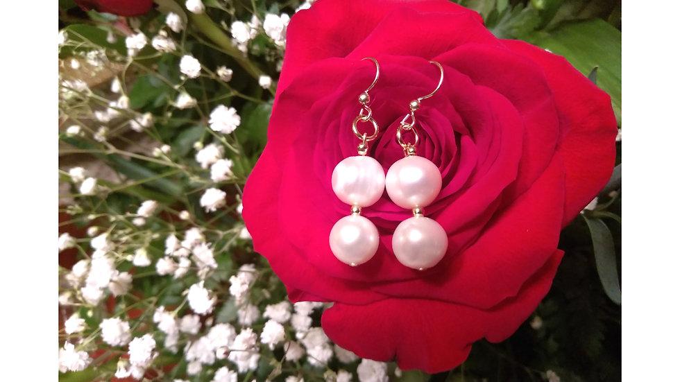 Emma Double Pearl Earrings