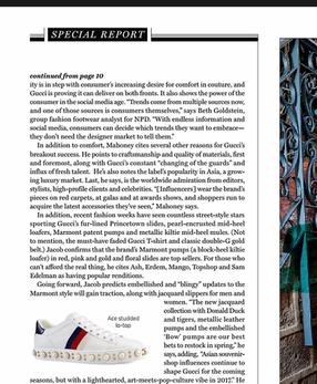 The Gucci Effect - Footwear Plus Magazine - June 2017