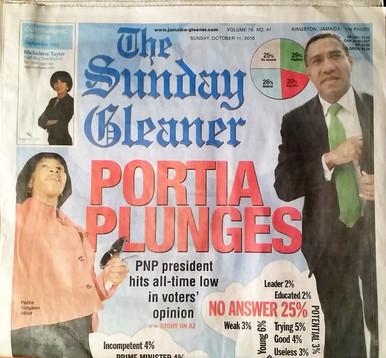 The JAMAICAN GLEANER SUNDAY edition (a).
