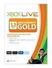 Carte d'abonnement au Xbox Live Gold - 12 mois