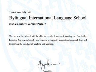 "Cambridge nos concede el sello de ""Authorised Learning Partner"""