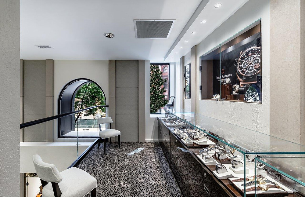 Lester Lampert Jewelers. Manufacture & Design of Store FIxtures by Artco Group