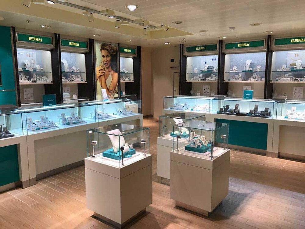 EFFY Jewelry. Manufacture & Design of Store FIxtures by Artco Group