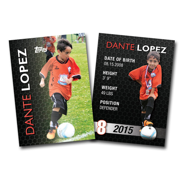 Personalized Sports Card