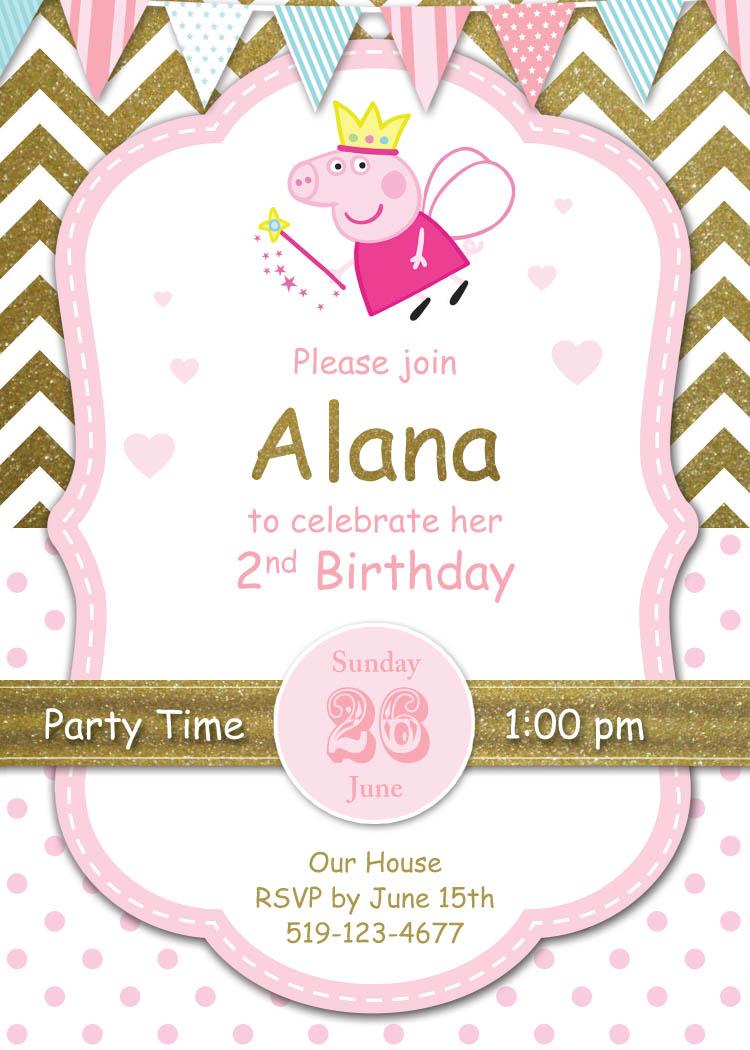 Peppe Pig Invite