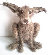Needle Felted Hare Dry felt