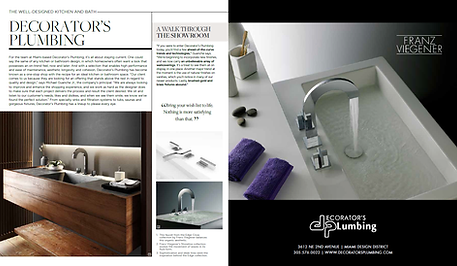Decorators Plumbing LUXE Magazine
