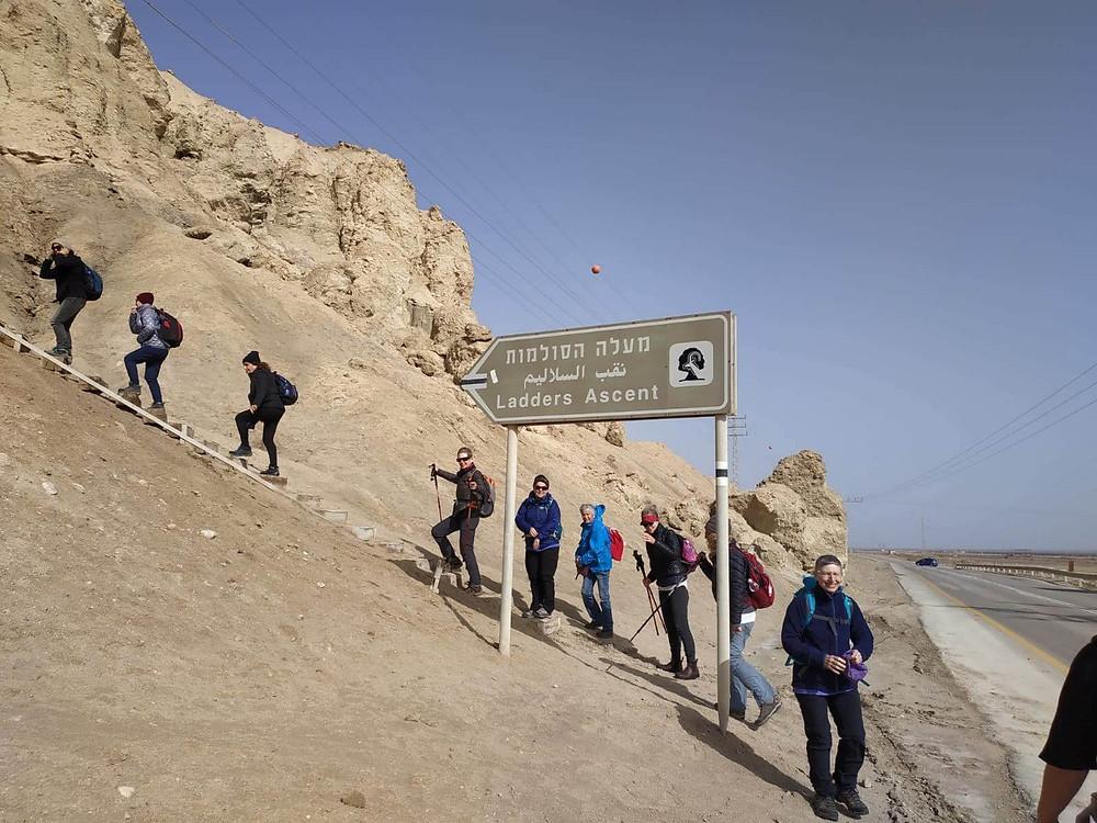 מאירות שביל ישראל בהר סדום - מעלה הסולמות