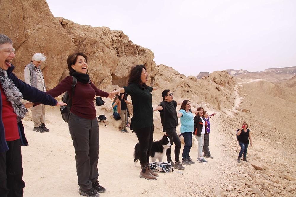 מאירות שביל ישראל במכתש רמון על רכס סהרונים