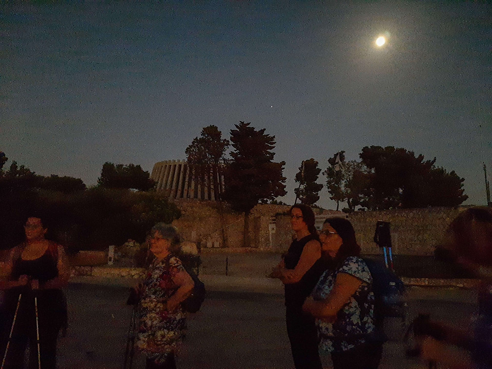 טיול לאור ירח מאירות שביל ישראל ביד קנדי