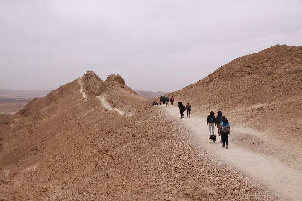מאירות שביל ישראל על שביל הסכין ברכס הדרומי של הר סהרונים