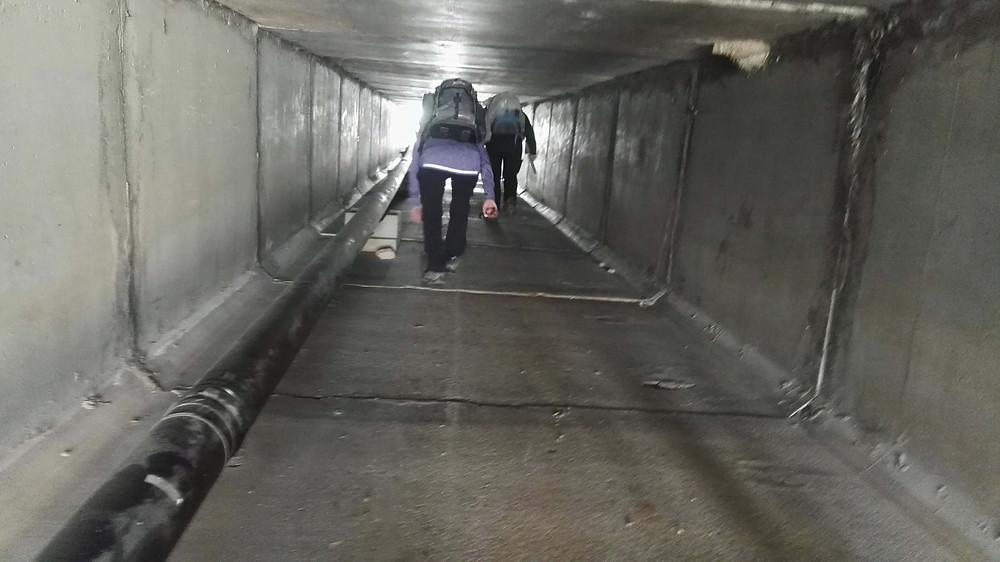 מאירות שביל ישראל חוצות את כביש זָנוֹחַ במנהרה שמתחת לכביש