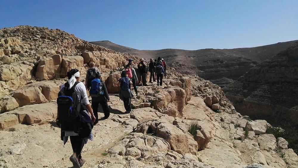 מאירות שביל ישראל בנחל קינה מראה מלמעלה