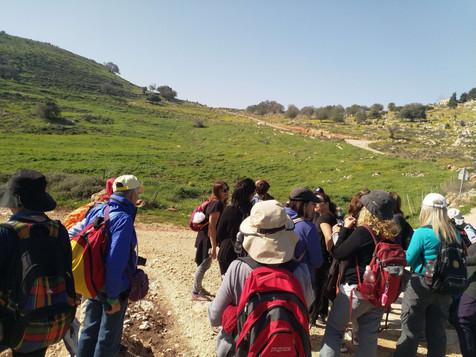 מאירות שביל ישראל בתל יודפת