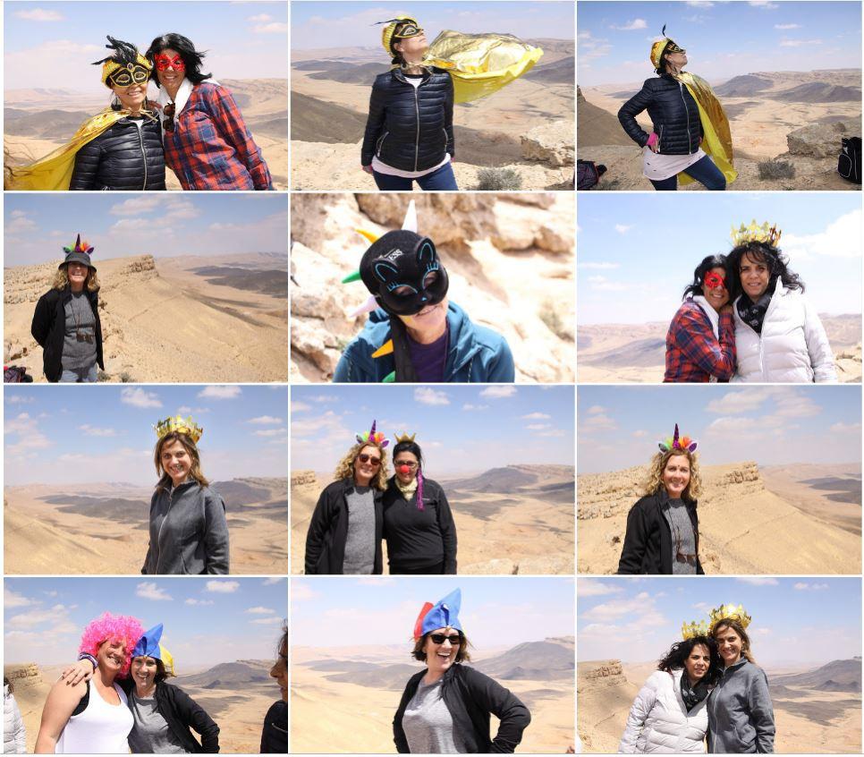 מאירות שביל ישראל במכתש רמון בסימן פורים