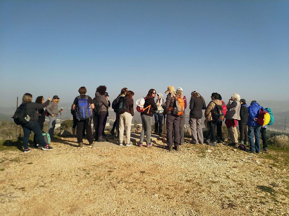 מאירות שביל ישראל בתצפית מהר השאבי על הגליל התחתון