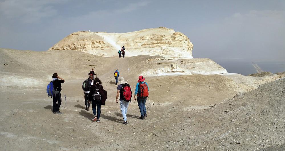 מאירות שביל ישראל בתצפית הכפתור בהר סדום