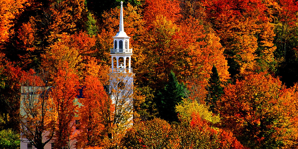 2022 Beautiful Vermont in the Fall Sept 25-October 1, 2022, 7 days $985.00 per person double
