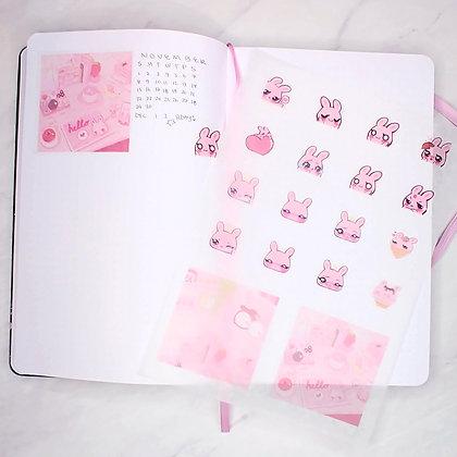 Bunbun Emotes Washi Stickersheet