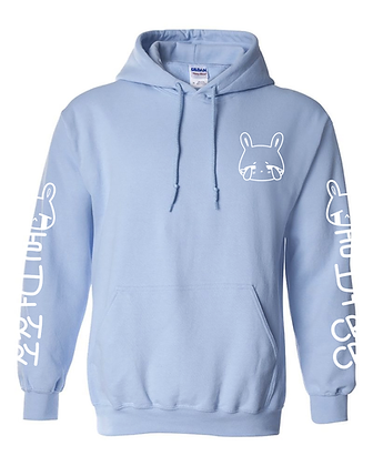 Sad Bun Club Hoodie Pullover - Light Blue