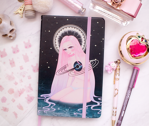Black Hole Goddess Dotted Journal