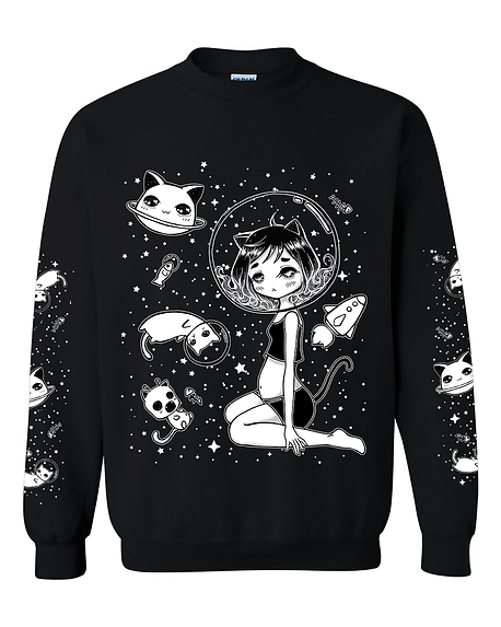 Lost in Space - Kitty Girl Crew Pullover