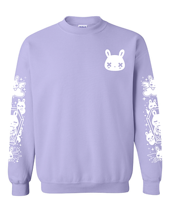 Game Over Crew Pullover - Lavender