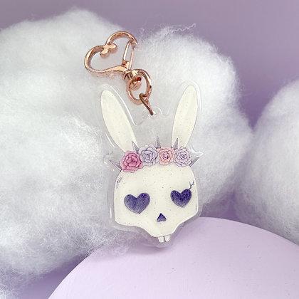 Bunny Skull Charm