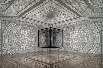 "Anila Quayyum Agha's ""Intersections""; at Rice Gallery New Art New Music"