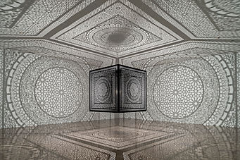 "Anila Quayyum Agha's ""Intersections""; at Rice Gallery New Art New Music"