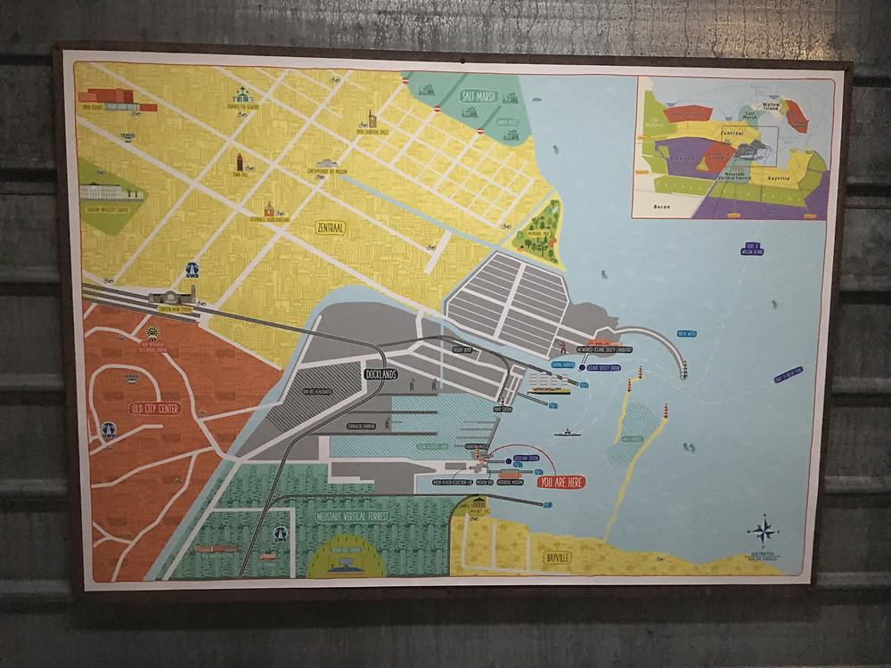 Turnton Docklands map