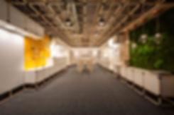 light square showroom space priestor komplexné osvetlenie