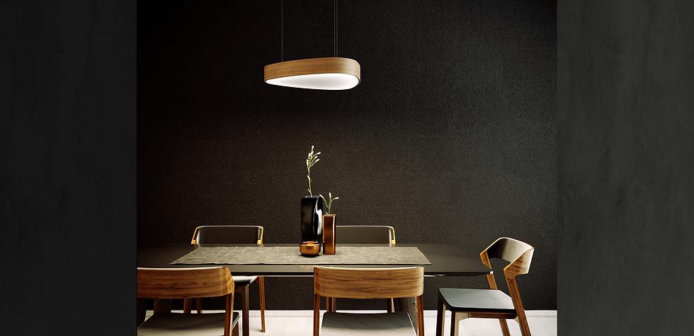 LED osvetlenie zavesny trojuholníkový svetelný strop nenamáha oči rozptyl plocha svetla