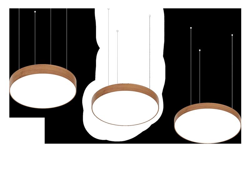 dizajnový LED luster z dreva svetelné stropy