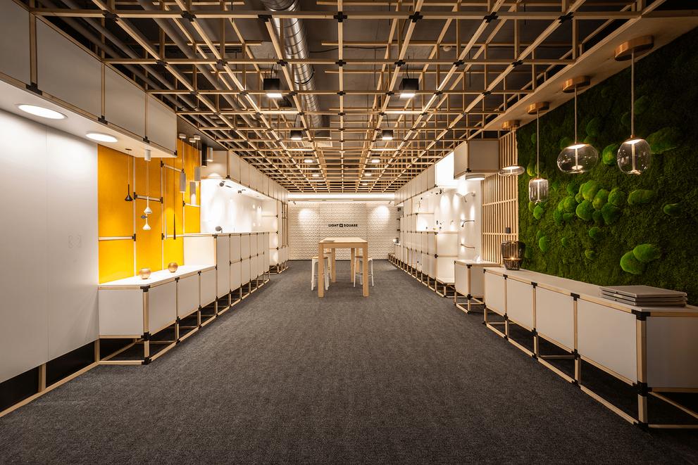 Light square showroom