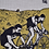 Two cyclist including Giulio Bresci burlap wall art
