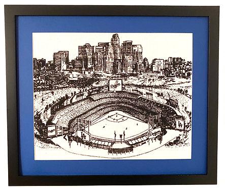 Dodger Stadium, Los Angeles Skyline