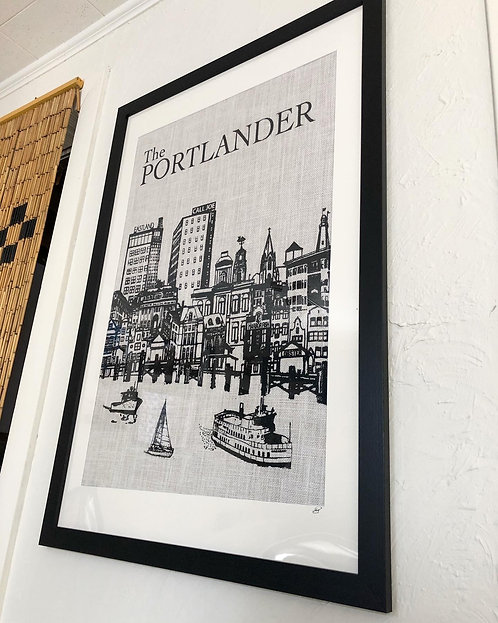 Modern Portland, Maine Skyline Wall Art