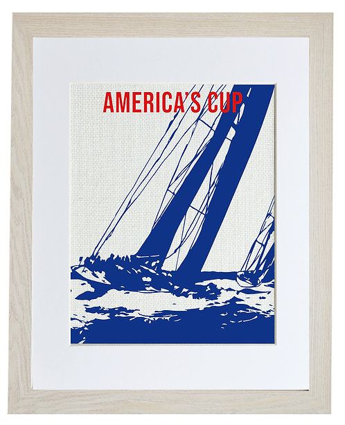 America's Cup Ivory Frame