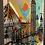 Abstract Wall Painting Featuring The Boston Skyline