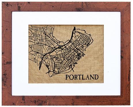 PORTLAND, MAINE STREET MAP