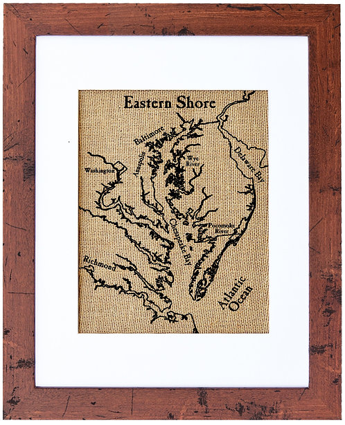 Map of Eastern Shore Walnut Frame