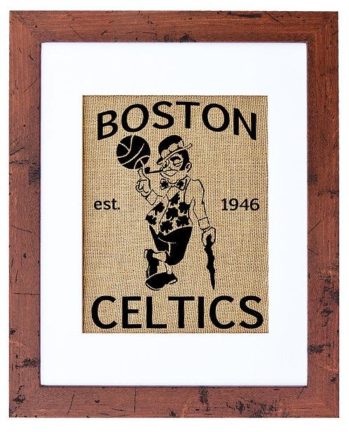 BOSTON CELTICS (NATURAL BURLAP)
