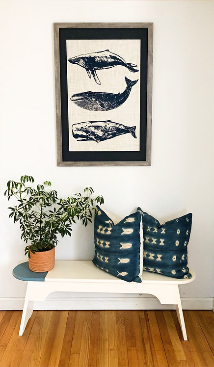 Statement Group of Whales wall art