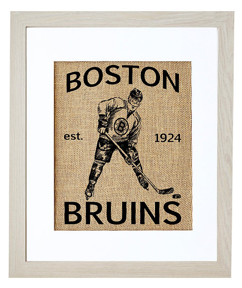 BOSTON BRUINS (NATURAL BURLAP)